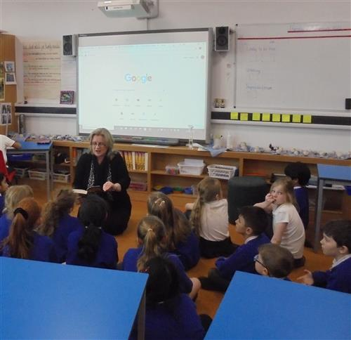 Children were introduced to the novel: The Train to Impossible Places read by Mrs Chetwyn